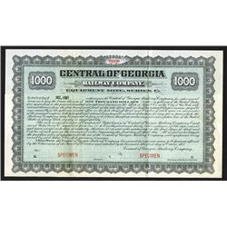 Central of Georgia Railway Co., 1902 Specimen Bond