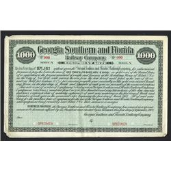 Georgia Southern and Florida Railway Co., 1902 Specimen Equipment Note Bond