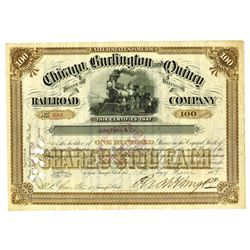 Chicago, Burlington and Quincy Railroad Co., 1889 Issued Stock Certificate