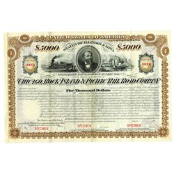 Chicago, Rock Island & Pacific Rail Road Co., 1877 Design (Issued in 1900) Specimen Bond