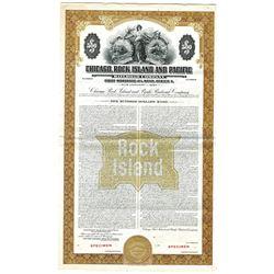 Chicago, Rock Island & Pacific Railroad Co., 1948 Specimen Bond
