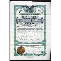 New England Railroad Supply & Development Co., 1895 Issued Bond