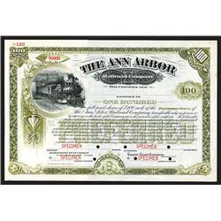 Ann Arbor Railroad Co., ca.1900-1910 Specimen Stock