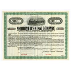 Meridian Terminal Co., 1905 Specimen Bond