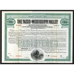 Yazoo and Mississippi Valley Railroad Co., 1907 Specimen Bond