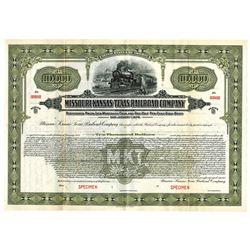 Missouri, Kansas & Texas Railroad Co., 1928 Specimen Bond