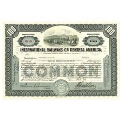 International Railways of Central America, 1962 Issued Stock Certificate