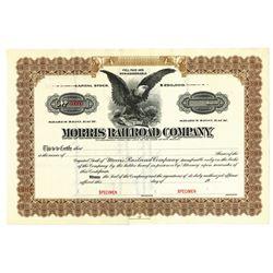 Morris Railroad Co., ca.1930-1940 Specimen Stock Certificate