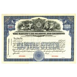 Safety Car Heating and Lighting Co., ca.1940-1950 Specimen Stock Certificate