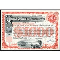 West Shore Railroad Co. 1885 Specimen Bond