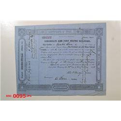 Cincinnati and Fort Wayne Railroad, 1853 Cancelled Stock