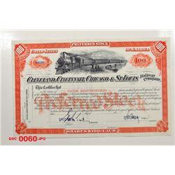 Cleveland, Cincinnati, Chicago & St. Louis Railway Co., ca.1930-1940 Specimen Stock