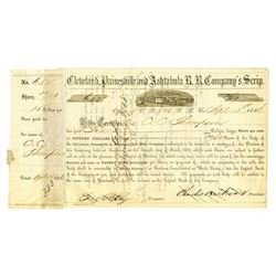 Cleveland, Painesville and Ashtabula R.R. Company's Scrip, 1850 Issued Bond