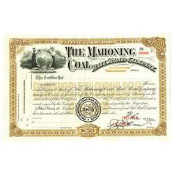 Mahoning Coal Rail Road Co., ca.1910-1930 Specimen Stock Certificate