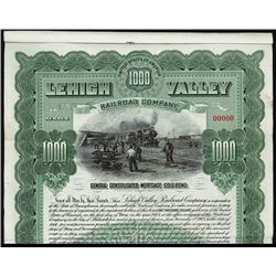 Lehigh Valley Railroad Co. 1903 Specimen Bond.
