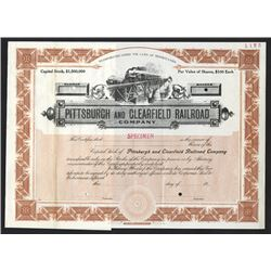 Pittsburgh and Clearfield Railroad Co., ca.1900-1910 Specimen Stock