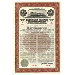 Southern Railway Co., 1939 Specimen Bond