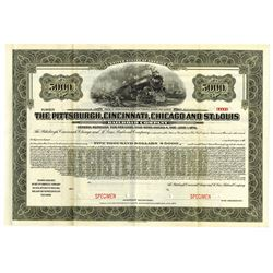 Pittsburgh, Cincinnati, Chicago and St. Louis Railroad Co., ca.1890-1900 Specimen Bond