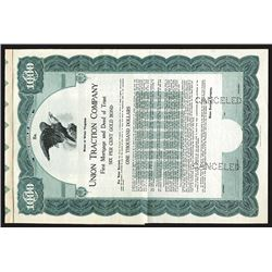 Union Traction Co., 1920 Specimen Bond