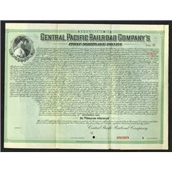 Extension of Central Pacific Railroad Co., 1897 Specimen Bond