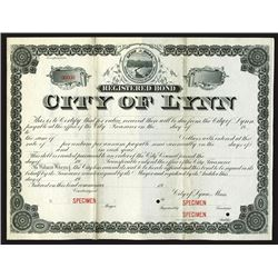 City of Lynn, ca.1900-1910 Specimen Bond