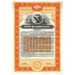 State of Mississippi, 1927 Specimen Bond
