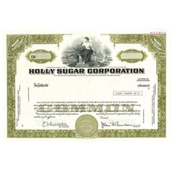 Holly Sugar Corp., 1975 Specimen Stock Certificate
