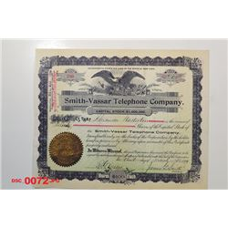 Smith-Vasser Telephone Co., 1899 Issued Stock