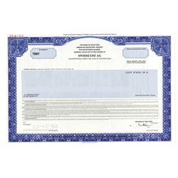 Swisscom AG, 1998 Specimen Stock Certificate