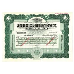 Consolidated Cities Light, Power & Traction Co., ca.1940-1950 Specimen Stock