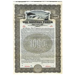 Montana Power Co., 1913 Specimen Bond
