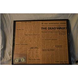 DAY OF THE DEAD THE DEAD WALK! SCREEN USED NEWSPAPER SIGNED BY ROMERO SAVINI AND SHERMAN