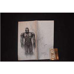 ZZ-CLEARANCE IRON MAN ORIGINAL STUDIO HAND DRAWN CONCEPT ART 3