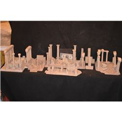 MINIATURE ALL ANCIENT GREEK & ROMAN RUINS BUILT BY GRANT MCCUNE THE ENTIRE COLLECTION!