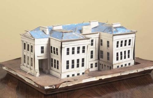 An Irish Victorian Painted Cardboard Architects