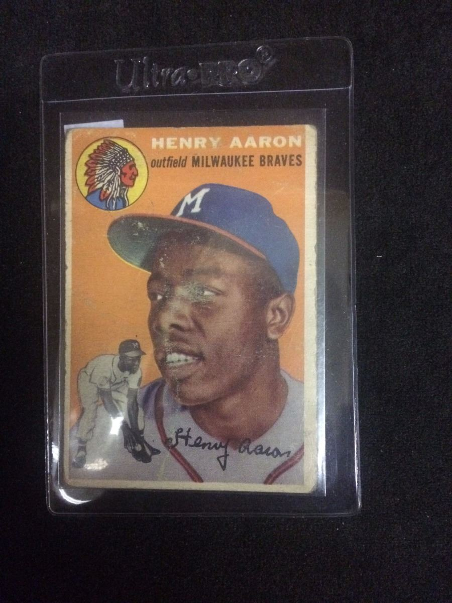 1954 Topps Hank Aaron Rookie Baseball Card