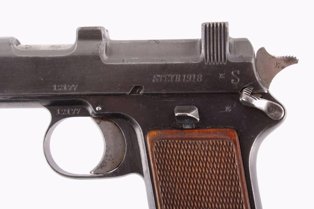 Steyr-Hahn M1912 9x23mm Steyr Pistol c 1918