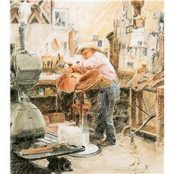 Chas Weldon, Saddle Maker