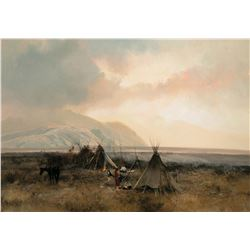 Indian Camp in the Bitterroot Mountains