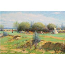 Indian Encampment in Spring
