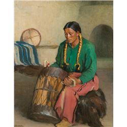 Taos Ceremonial Drummer