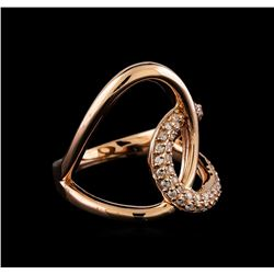 0.34 ctw Diamond Ring - 14KT Rose Gold