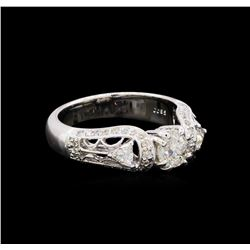 1.33 ctw Diamond Ring - 18KT White Gold