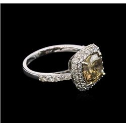 2.84 ctw Fancy Brown Diamond Ring - 14KT White Gold