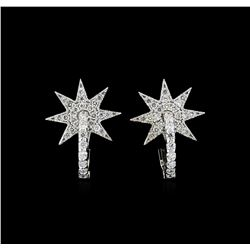0.65 ctw Diamond Earrings - 14KT White Gold
