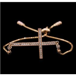 0.42 ctw Diamond Bracelet - 14KT Rose Gold