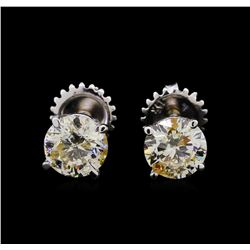 1.49 ctw Diamond Earrings - 14KT White Gold