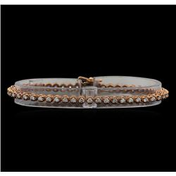 14KT Rose Gold 1.78 ctw Diamond Tennis Bracelet