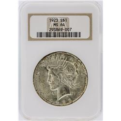1923 NGC MS64 Peace Silver Dollar