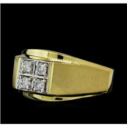 0.33 ctw Diamond Ring - 14KT Yellow Gold